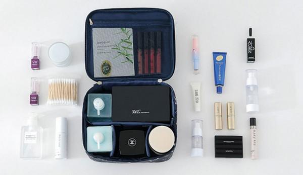 Schminktasche, Reise-Kosmetikbeutel-Bürsten-Beutel-Toilettenartikel-Wäschebeutel-beweglicher Reise-Verfassungs-Kasten-Beutel für Frauen-Mädchen 50Ppcs / lot