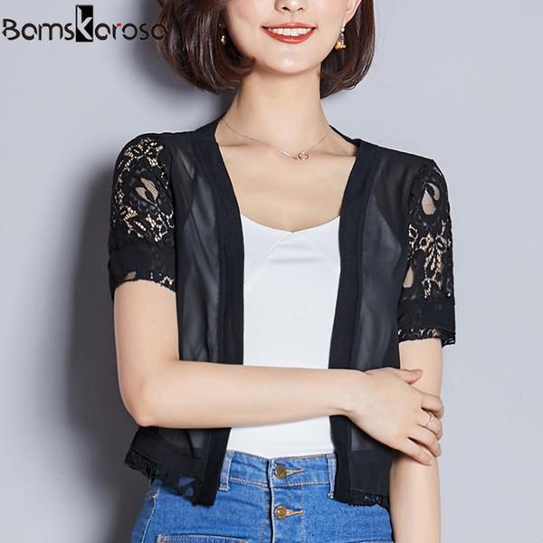 Сексуальное кимоно кардиган женщин плюс размер кружева кимоно Feminino лето 2019 ярко-белая блузка повседневная женская с коротким рукавом корейский топ