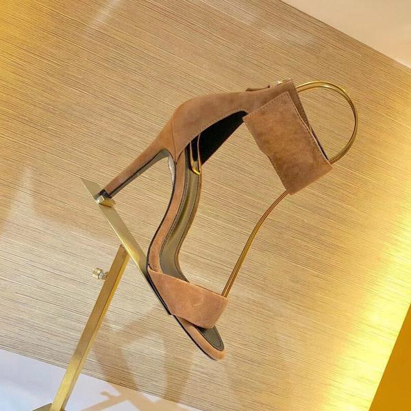 Tasarımcının Renk Yüksek topuklu Sandalet Top T-band Yüksek topuklu ayakkabılar 6 Renk Lake Etek Tek Ayakkabı BOYUT; 34-41
