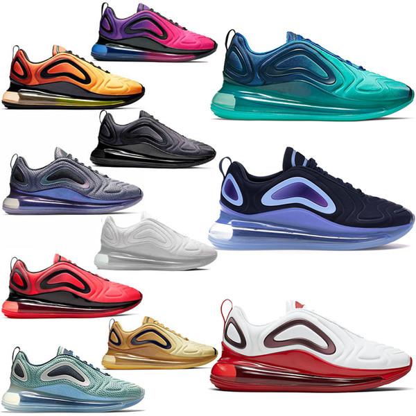 nike air max 720 KPU OG Pembe tenis koşu ayakkabı Mens Womens Için GELECEK GELECEK Sunrise Neon Sunset Crimson DESERT Altın tasarımcı sneakers 36-45