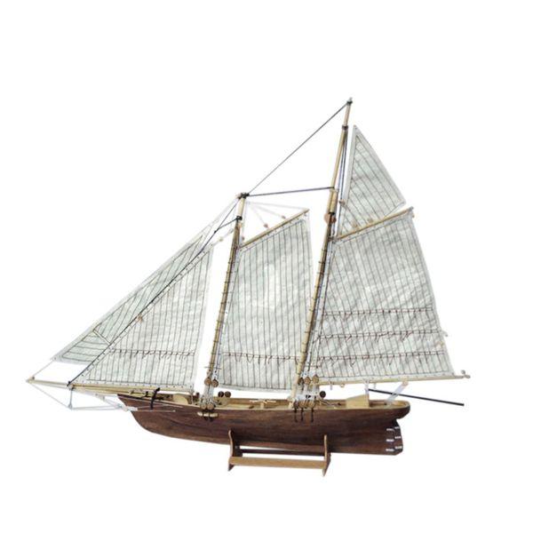 1: 120 assemblaggio in legno fai da te modello di nave a vela classica barca a vela processo di taglio laser puzzle home office decorazione giocattoli regali