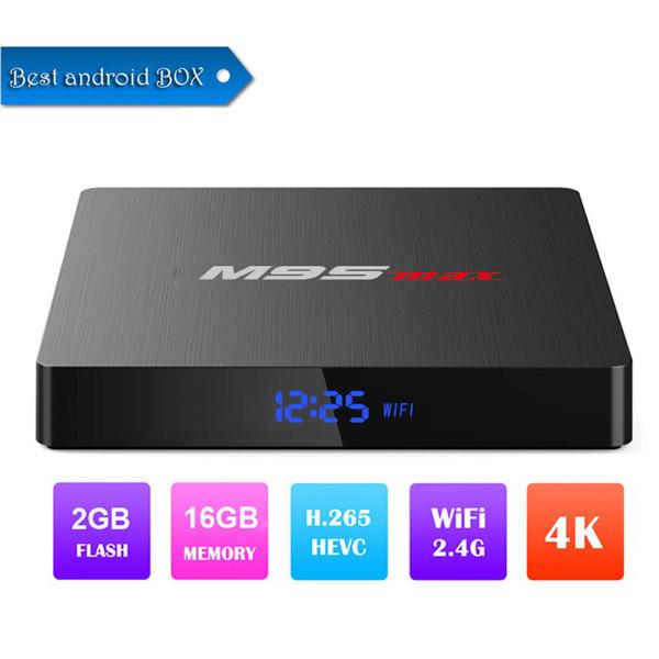 1 шт. 2019 новый горячий M9s MAX Android 7.1 TV BOX 2 ГБ 16 ГБ Amlogic S905W Quad Core Set-top box H. 265 4K 2.4 ГГц WiFi IPTV Box лучше T9 H96 Макс