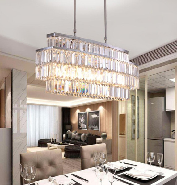 Modern Crystal Chandelier For Dining Room Rectangle Chandeliers Lighting  Kitchen Island Crystal Chandelier LLFA Bedroom Chandelier Girls Chandelier  ...