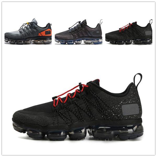 Compre Designer Men Shoes Nike Vapormax Women 2019 Hombres Running Shoes Run Utility Mejor Calidad Negro Antracita Entrenadores Blanco Reflect Silver