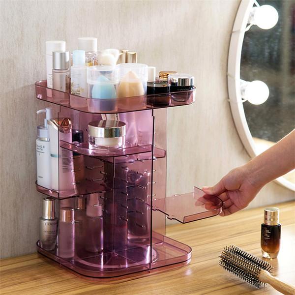 Fashion Makeup Organizer Box Brush Holder Jewelry Organizer Case Jewelry Makeup Cosmetic Storage Box Clear Acrylic 31cm*22.5cm