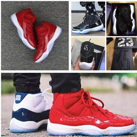 top popular NEW 11 Concord Basketball Shoes Space 1st Jam Bred Men Women 11s Gym Red Midnight High Quality Navy Gamma Blue Sneakers With Box 7-13 2019