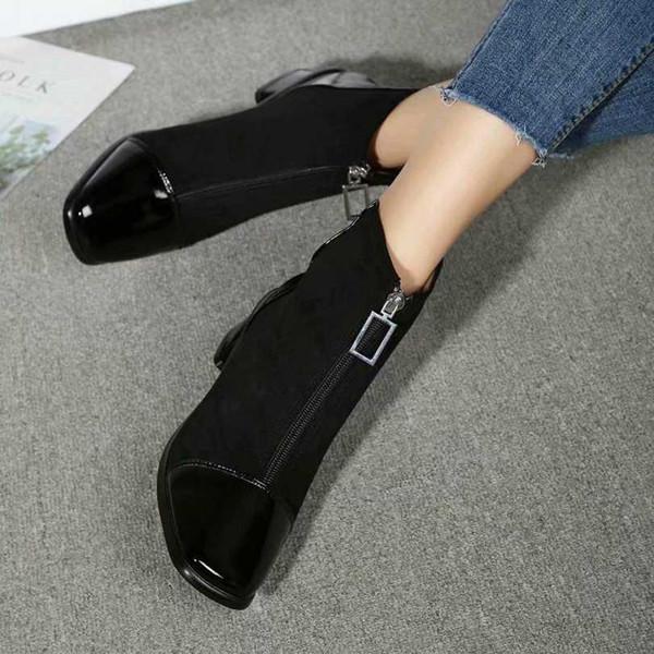Superstar últimas ankle boots designer de moda camurça patente metálico couro salto baixo de prata preto 003Christmas partido e Ankle Boots