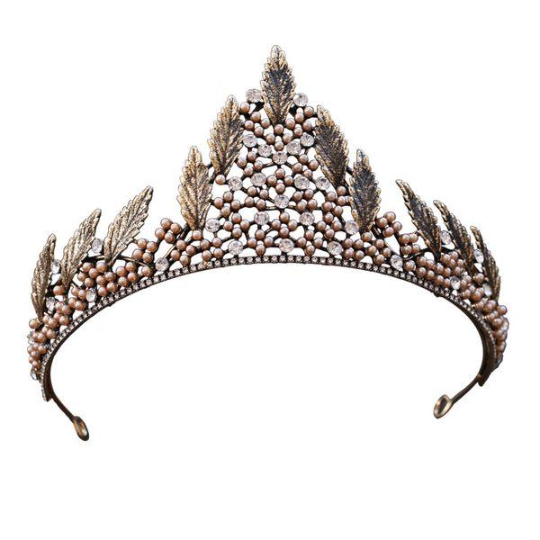 Woodqiqi coreano novia cristal corona tocado vestido de novia accesorios de lujo barroco rhinestone coroa tiaras y coronas