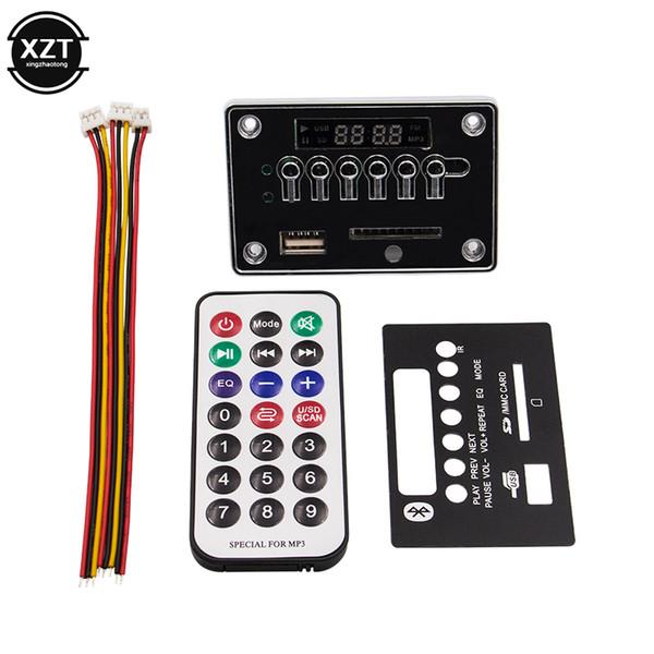5 V 12 V Automóvel Car Bluetooth Receptor MP3 Player WMA USB / SD / FM / AUX Placa Decodificador Módulo de Áudio para o Carro MP3 Speaker