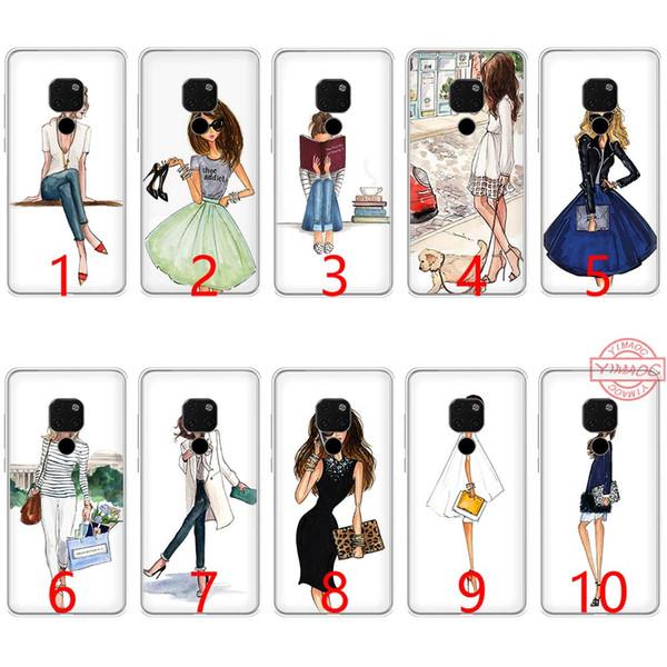 Traveling Beautiful Bikini Girl Soft Silicone TPU Phone Case for Huawei Mate 20 10 Pro Nova 2i 3 3i 4 Lite