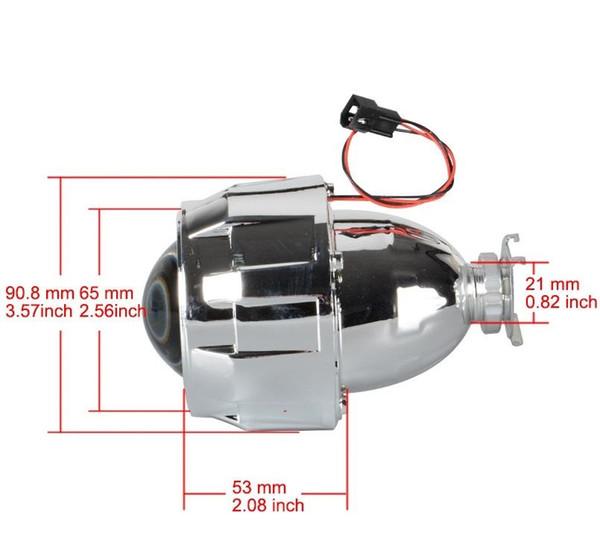 1Pcs 2.5 Inch Mini HID Bi-Xenon Light Projector Len Sliver Black Shroud Adapter H7 H4 Headlamp Use H1 Bulb For Car motor