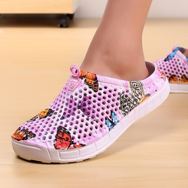 2018 womens casual Clogs Breathable beach sandals valentine slippers summer slip on women flip flops shoes home shoes for women #10449