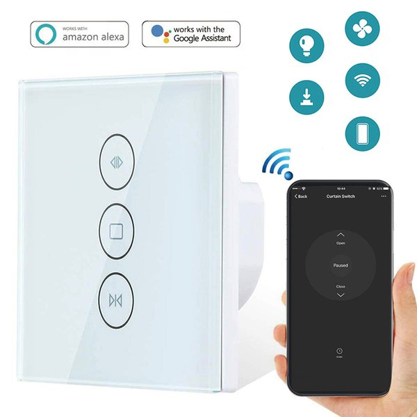 WiFi Smart Curtain Switch Electric Motorized Curtain Blind Roller Shutter  Switch Works With Alexa Google Home Smart Life Tuya Home Automation Reviews