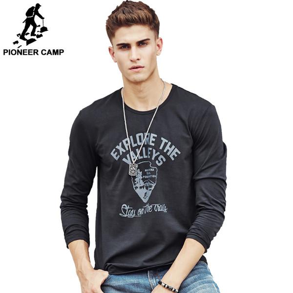 Großhandelsmänner heißes T-Shirt Art und Weisemarkenkleidung Männer langes Hülsent-shirt Baumwollelastisches beiläufiges T-Shirt Mann 4XL plus