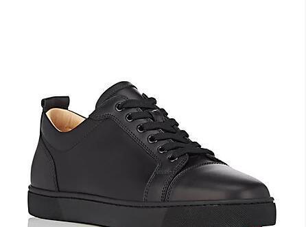 2019 nuove scarpe casual da uomo in pelle bianca piatta moda suole rosse scarpe da uomo rivetti bicolore all'ingrosso di bassa qualità