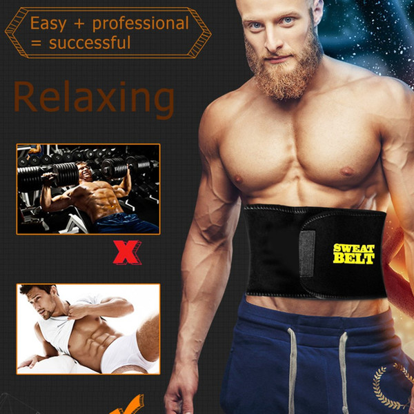 Men womens Fitness Sport Fat Burning Elastic Waist Belt Abdomen Girdle Belly Body Sculpting Shaper unisex Tummy Slimming Belt