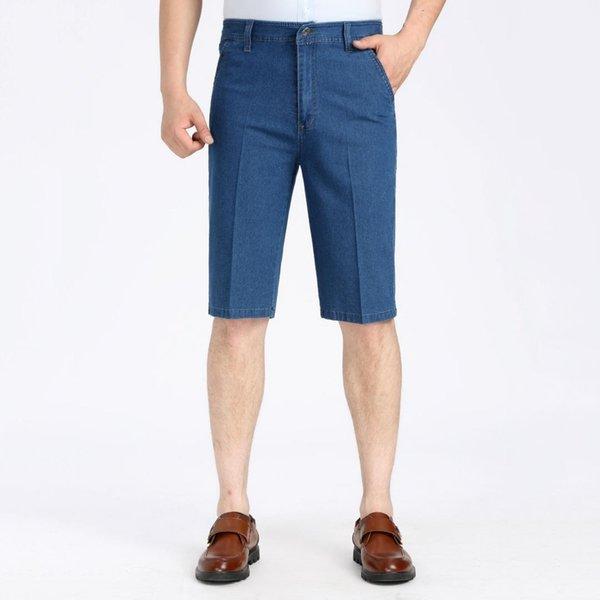 befd04eb5b rectos 2019 para pantalones cortos vaqueros pantalones hombre hombres de  Verano los delgada sección de pantalones ...