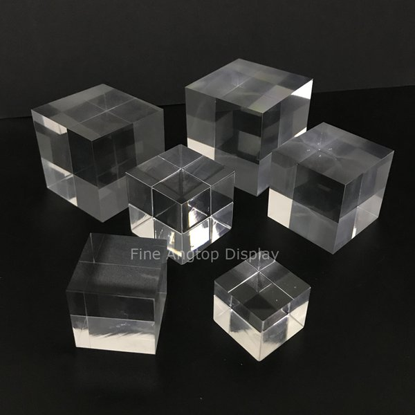 Acrylic Display Block Platform Modern Fine Exhibition Jewelry Earring Rings Bracelets Stands Figure Art Store Gallery Trade Show