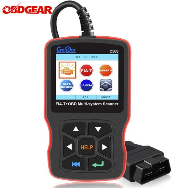 OBD2 Diagnostic Auto Tool Creator C508 for FIAT/Alfa/Abrath/Lancia OBDII/EOBD Multi-System Scanner Airbag/ABS Car Diagnostic