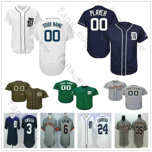 Custom Detroit #10 Sparky Anderson 41 Victor Martinez 4 Jose Iglesias 33 James McCann Man Woman Kids Youth Tigers Baseball Jerseys