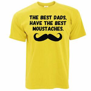 Father's Day T Shirt The Best Dads Have Mustaches Novelty Slogan Joke