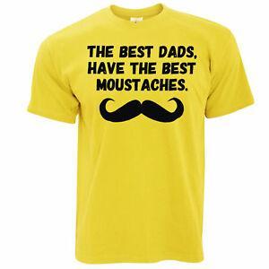 Camiseta del día del padre Los mejores papás tienen bigotes Novedad Lema Broma