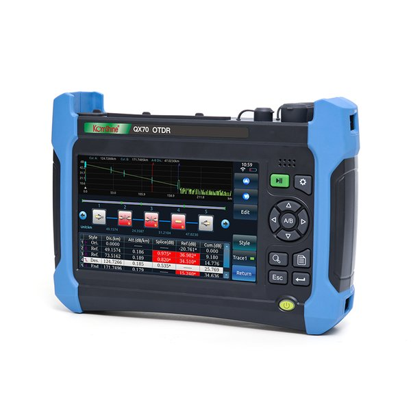 Fiber Optic OTDR Tester QX50-MS SM & MM 850nm+1310/1550nm 21/19/28dB Fedex Freeshiping with bluetooth wifi function