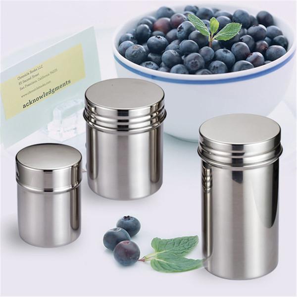Hochwertige Aufbewahrungsflaschen Gläser 304 Edelstahl verschlossene Dosen tragbarer Vorratsbehälter Milchteedosen Gewürzdose LX1241