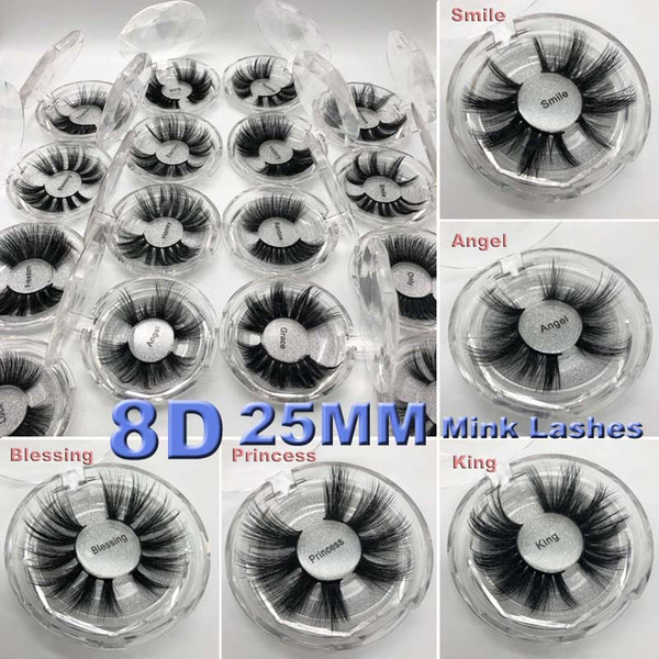 2019 16 stili 5D Mink Hair 25mm Ciglia finte spesse Messy Cross Eye Lashes Extension Eye Makeup Tools
