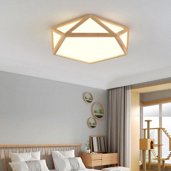 Großhandel Creative Wooden LED Deckenbeleuchtung Deckenleuchte Für Das  Wohnzimmer Schlafzimmer Lampe Für Den Flur Deckenleuchte Für Designer Von  ...