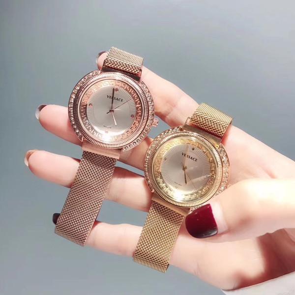 New Top Brand Women Waches Montre Femme Fashion Gold Sliver Design Quartz Watch Women Luxury stainless steel Bracelet For Ladies Famale Clo