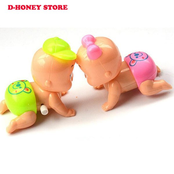 Mini Baby Shape Clockwork Spring Toy Kids Funny Newborn Early Educational Toys Wind-up Baby Toys gift