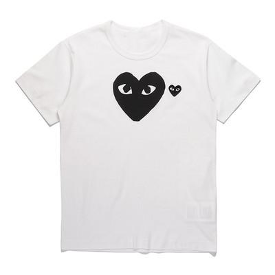 For Men Women COMMES Tshirts With Cotton Short Sleeve Des OFF Holiday Embroidery Heart Emoji GARCONS White Clothing T-shirts Size Red Eyes
