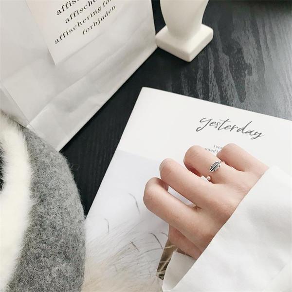 925 ayar gümüş yüzük tüy vintage yüzük moda takı güzel gümüş yüzük hediye