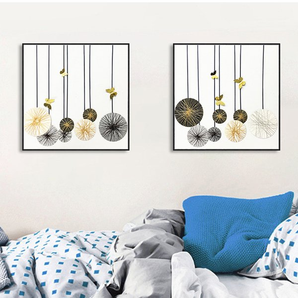 2019 Modular Abstract Dandelion Canvas Art Posters Prints Nordic Love Quote Paintings Circle Pattern Wall Picture For Home Decor From Goutour $35 29