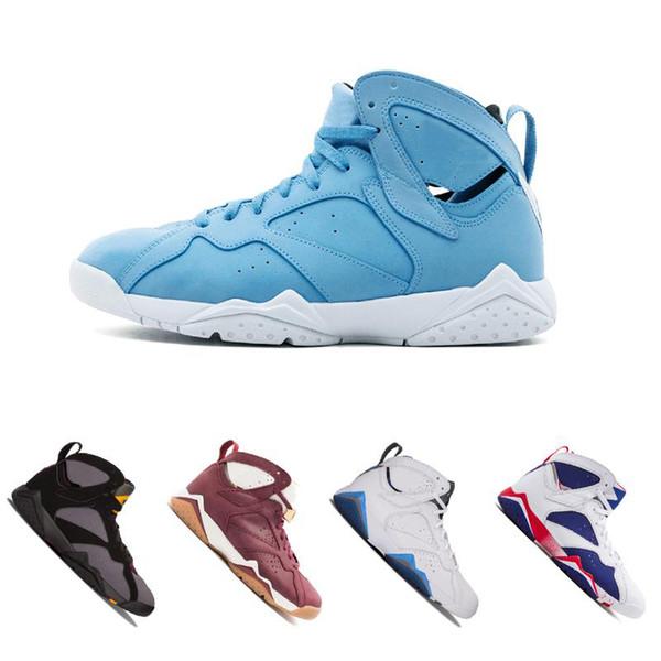 2018 Yeni 7 Basketbol Ayakkabıları Erkek Kadın 7 s VII Mor UNC Olimpiyat Panton Saf Para Hiçbir Şey Raptor N7 Zapatos Eğitmen Spor Ayakkabı Sneaker
