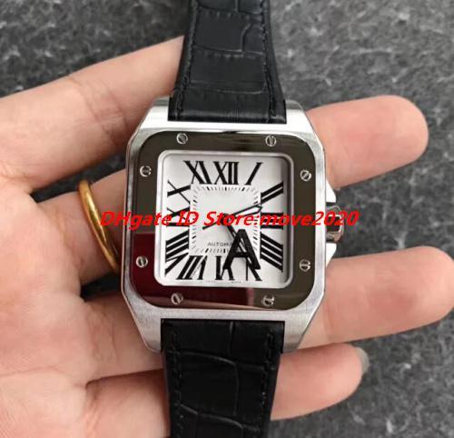 Produits pour hommes Classic 100 Steel XL cadran blanc W20073X8 Bracelet en cuir Marque Pasha Version Mouvement Montre 28800bph automatique