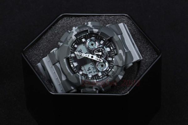 Hochwertige relogio Camouflage Herren Sport AUTO LIGHT Uhren Luxus Herrenuhr LED Militäruhr Digitaluhr