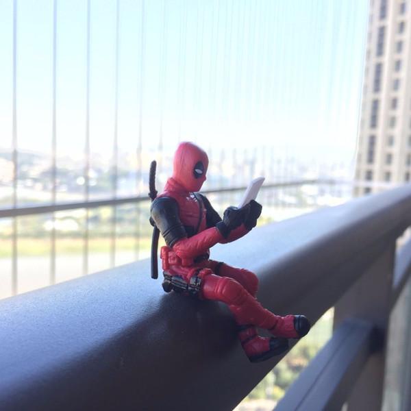 Deadpool Action Figure Sitting Posture modèle Anime x-men mini poupée jouets 7 cm