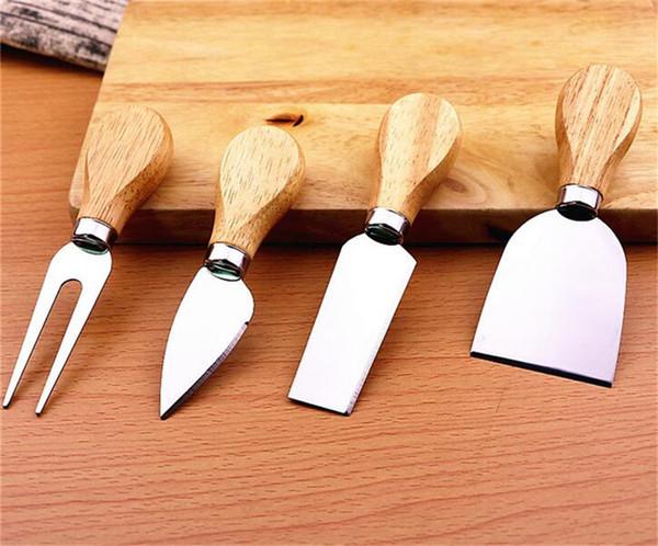 50 takım Bıçaklar Meşe Bardo Mango Peynir Bıçağı Seti Kiti Mutfak Aksesuarları Mutfak Faydalı Araçlar 4 adet / takım G453