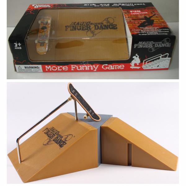 Novelty Gag Toys Skateboards Bikes Funny Game Toys Skate Set Mini Finger Skateboard + Finger Skateboards Ramps For Sport Training