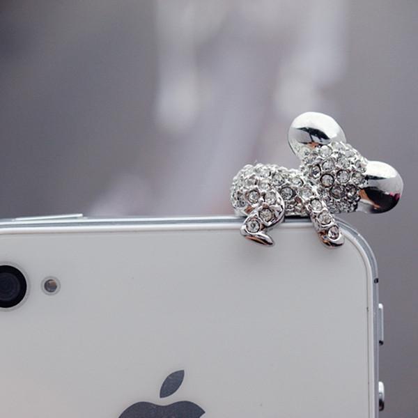 Cam reçine Kulaklık Anti Toz fişi için iPhone 6 S Artı Mini jack 3.5mm SE iPhone SE Samsung Için sevimli Koala kapak Gadget Aksesuarları