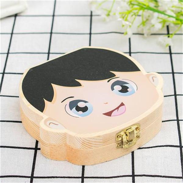 Creativo colorato Baby Tooth Box per bambini Salva latte denti Ragazzi ragazze immagine Organizer in legno a denti decenti scatole contenitori C61406