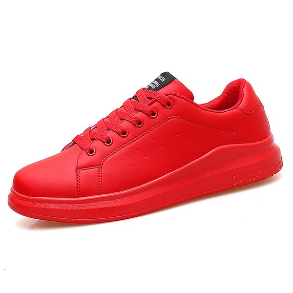 New Women Vulcanized Shoes Sneakers Couple Lac-up Red Basket Shoes Breathable Sewing Woman White Casual Flat