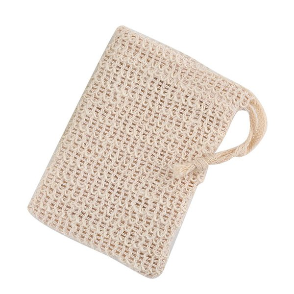 natural exfoliating mesh soap saver sisal soap saver bag pouch holder for shower bath foaming and drying of the soap clean tools u10fz