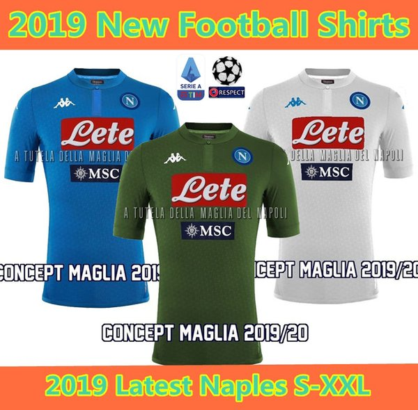 df0b4ed57ed 2019 Latest napoli soccer jersey home 19 20 Naples ZIELINSKI HAMSIK INSIGNE  MERTENS CALLEJON PLAYER ROG football shirts