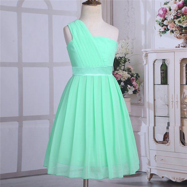 Iefiel Mint Green Girls Flower Formal Party Ball Gown Prom Princess Bridesmaid Wedding Children Tutu Tulle Dress Size 4-14 Years J190612