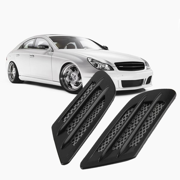 2 pieces Car Side Air Flow Vent for Fender Hole Cover Intake Grille Duct Decoration ABS Plastic Sticker
