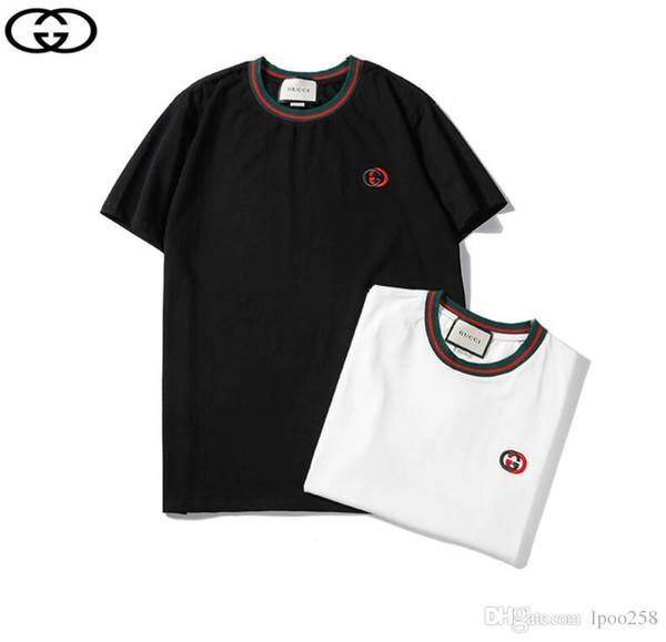 2019 erkek Tişörtleri Tasarımcı Erkek kadın Marka T-Shirt Moda Kısa Kollu Erkek Giyim Popüler Mektuplar Desen Nefes T Gömlek