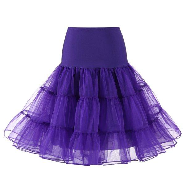 púrpura de la enagua